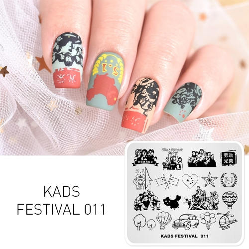 FESTIVAL 011 Nail Stamping Plate Festival Labor Day