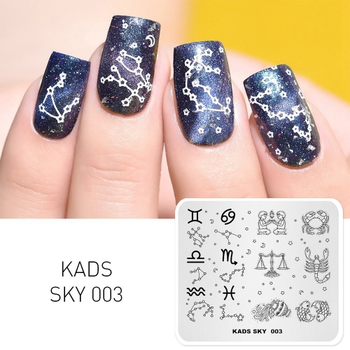 SKY 003 Nail Stamping Plate Sky Constellation
