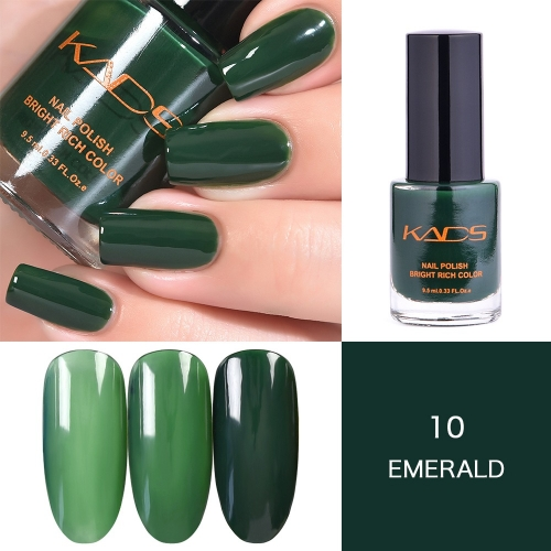 Layers Gradually Crystal Translucent Nail Polish 9.5ml Dark Green