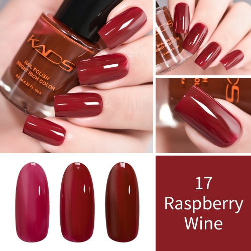 Raspberry Wine Red Translucent Nail Polish 9.5ml