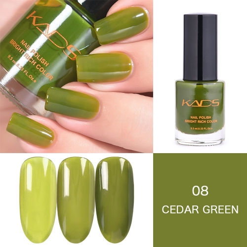 Cedar Green Crystal Translucent Nail Polish