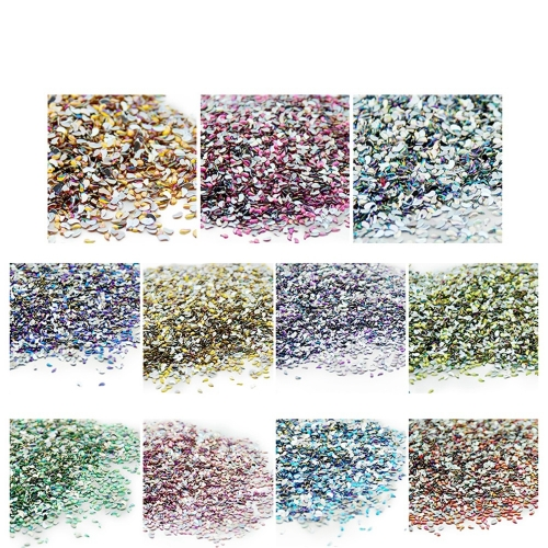 Comma Shaped Nail Rhinestone 500Pcs/Pack Single Color 200006