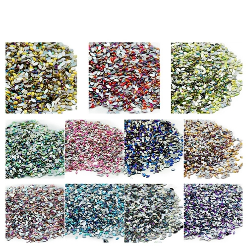 Leaf Shaped Nail Rhinestone 500Pcs/Pack Single Color 200015