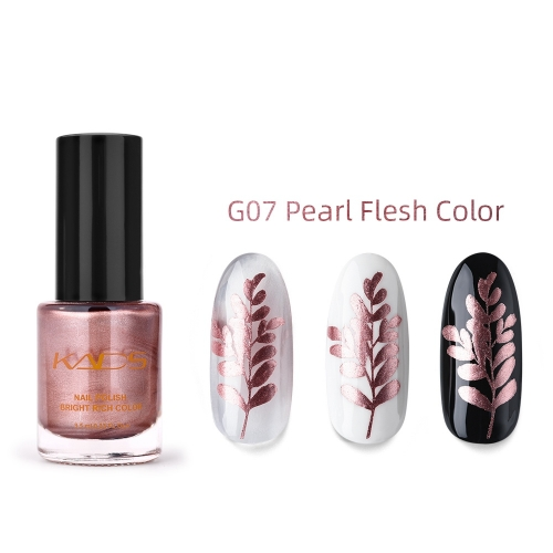 Nail Stamp Polish 9.5ml Metallic Rose gold