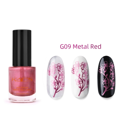 Nail Stamp Polish 9.5ml Metallic Pink