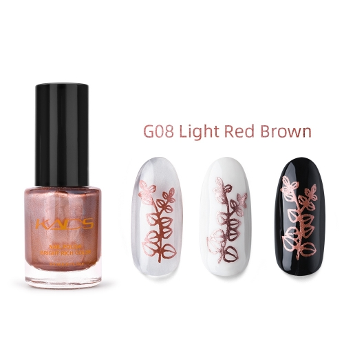 Nail Stamp Polish 9.5ml Metallic Red Brown