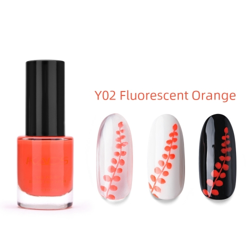 Nail Stamp Polish 9.5ml Fluorescent Orange