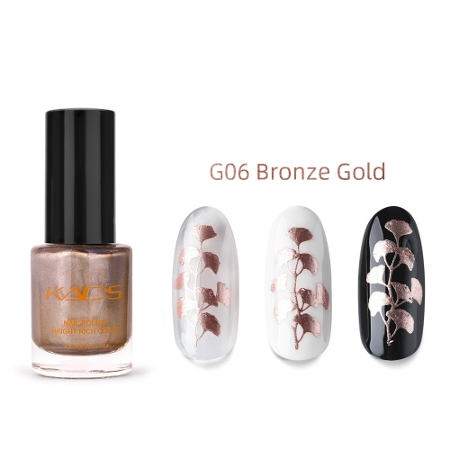Nail Stamp Polish 9.5ml Metallic Bronze Gold