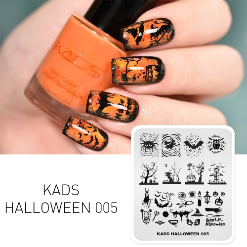 HALLOWEEN 005 Nail Stamping Plate Halloween Magic & Witch