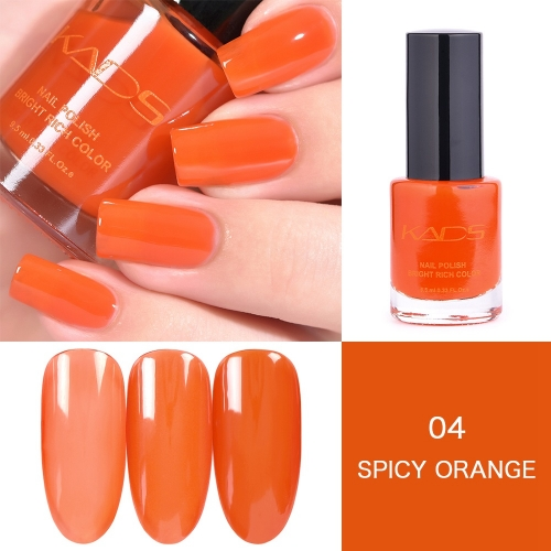Layers Gradually Crystal Translucent Nail Polish 9.5ml Orange