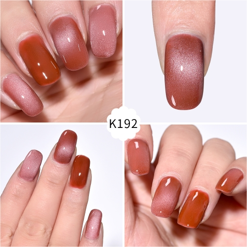Meteorite Wide Cat Eye Gel Nail Polish Falu Red