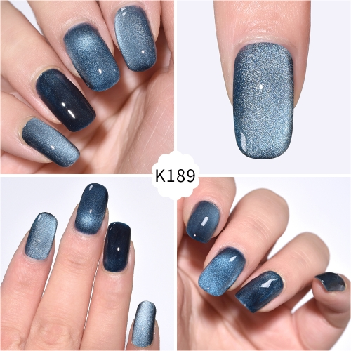 Meteorite Wide Cat Eye Gel Nail Polish Oxford Blue