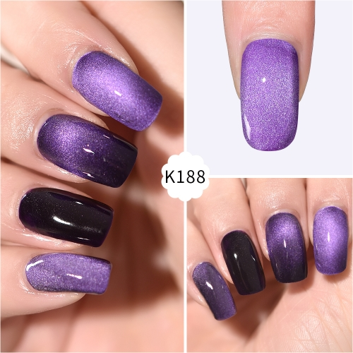 Meteorite Wide Cat Eye Gel Nail Polish Purple Rain