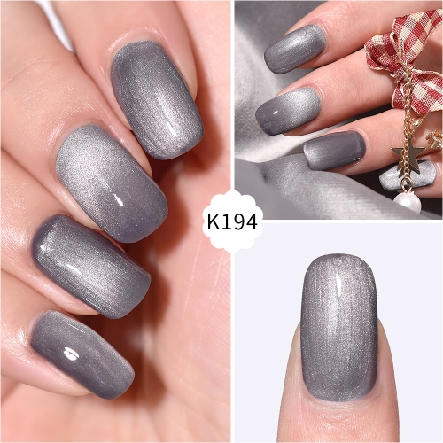 Meteorite Wide Cat Eye Gel Nail Polish Grey