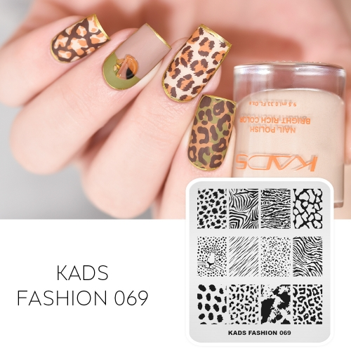 FASHION 069 Nail Stamping Plate Leopard