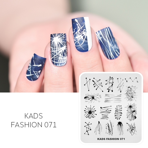 FASHION 071 Nail Stamping Plate Lines