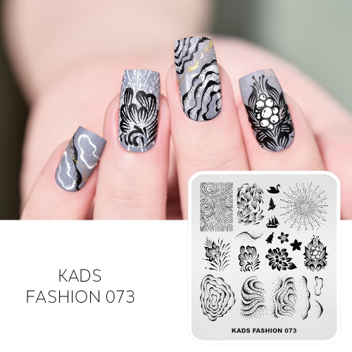 FASHION 073 Nail Stamping Plate Swan Sailboat $ Flower