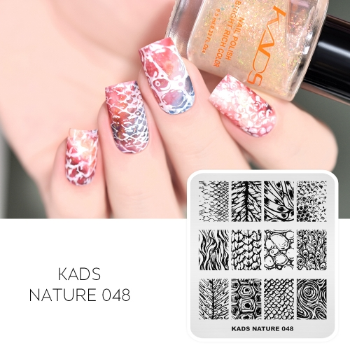 NATURE 048 Nail Stamping Plate Unique Pattern