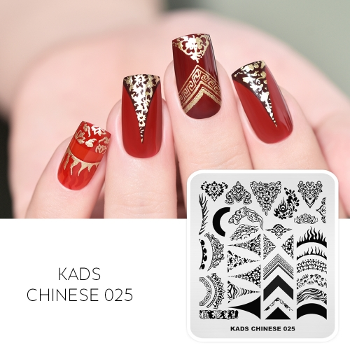 CHINESE 025 Nail Stamping Plate Totem