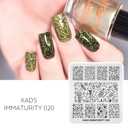 IMMATURITY 020 Nail Stamping Plate Rocket & Robot