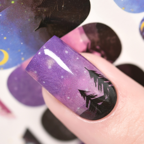 Water Transfer Nail Sticker Starry Sky & Nebula