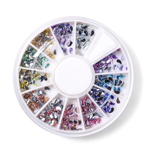 Comma Shaped Nail Rhinestone 600Pcs/Box 12 Colors 200005