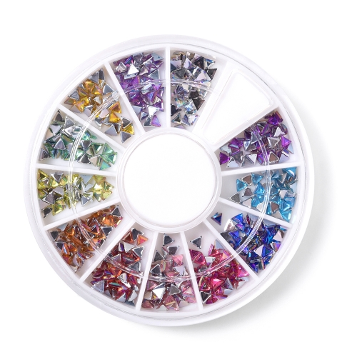 Triangle Nail Rhinestone 600Pcs/Box 12 Colors 200007
