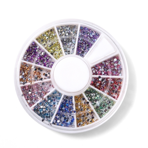 Round Nail Rhinestone 600Pcs/Box 12 Colors 200008