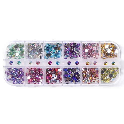 Cone Shaped Nail Rhinestone 600Pcs/Box 12 Colors 200012