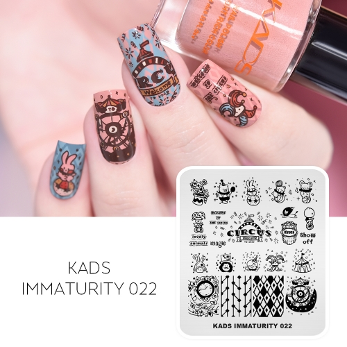 IMMATURITY 022 Nail Stamping Plate Cartoon Charater