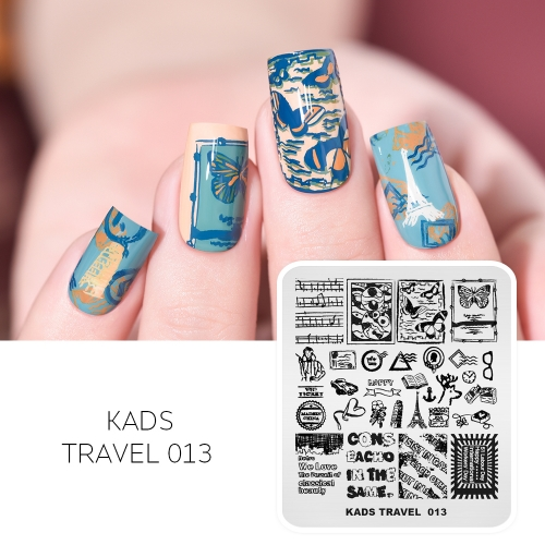 TRAVEL 013 Nail Stamping Plate European Style