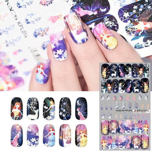 Water Transfer Nail Sticker Night Elf & Elk