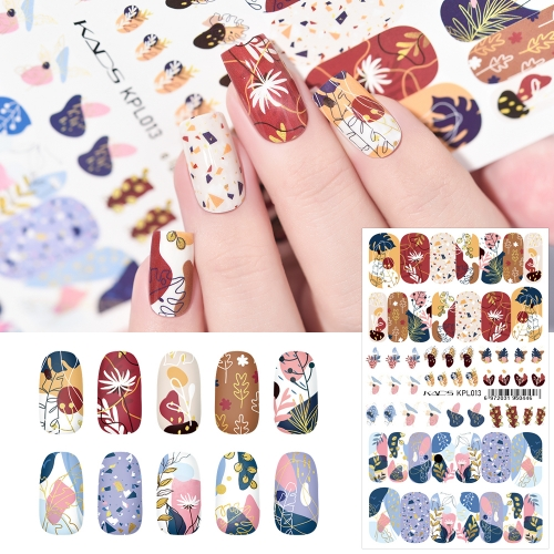 Water Transfer Nail Sticker Irregular Patterns & Flowers