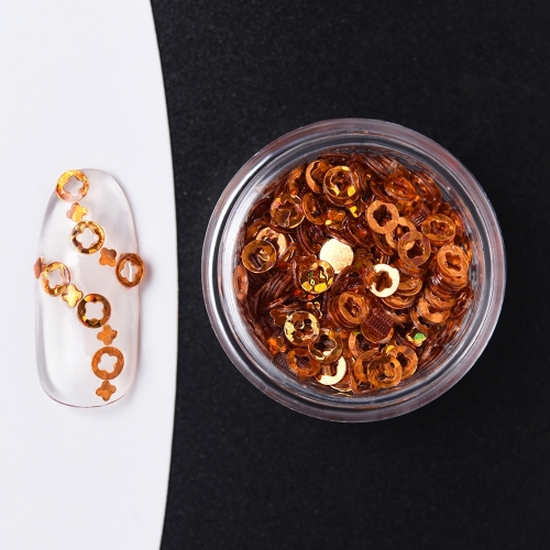 Round Flower Hollow Sequin Nail Powder 1Pcs 200065