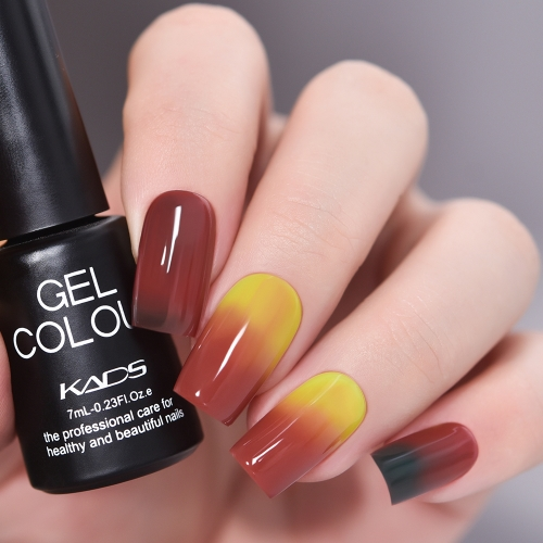 Thermal Gel Nail Polish Red & Yellow & Black