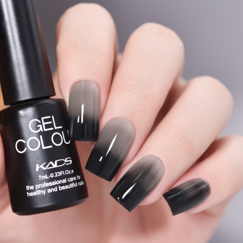 Thermal Gel Nail Polish Black & Grey