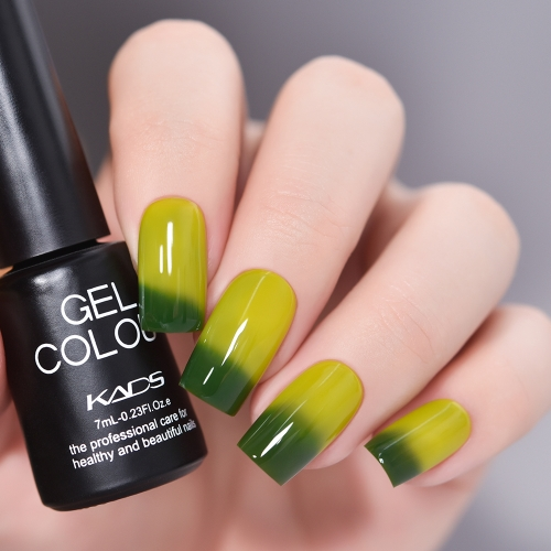 Thermal Gel Nail Polish Yellow & Green