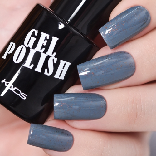 Flake Gel Nail Polish Blue Grey