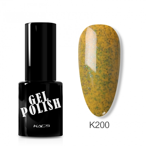 Flake Gel Nail Polish Turmeric