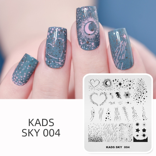 SKY 004 Nail Stamping Plate Sky Star Meteor