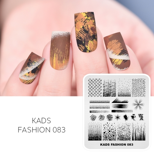 FASHION 083 Nail Stamping Plate Grid& Line