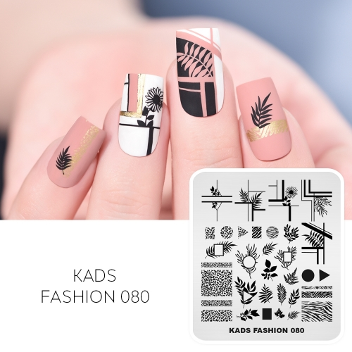 FASHION 080 Nail Stamping Plate Leopard Print& Lines& Flowers And Plants