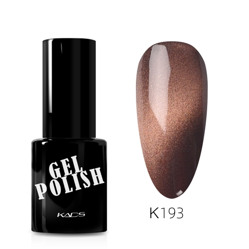 Meteorite Wide Cat Eye Gel Nail Polish Pecan Brown